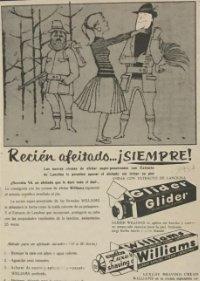 1962 Publicidad cremas de afeitar Glider y Williams 18,2x25 cm