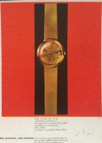 1961 Publicidad relojes Zenith 18,2x25 cm