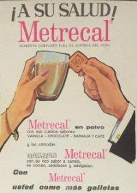 1961 Publicidad alimento para control de peso Metrecal