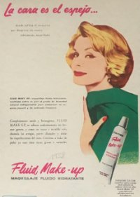 1958 Publicidad maquillage Fluid Make-up