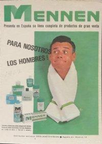 1967 Publicidad lociones y cremas para el afeitado Mennen 18,2x25 cm