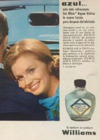 1962 Publicidad Aqua Velva. Williams
