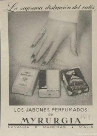 1954 Publicidad jabones perfumados Myrurgia 18,2x25 cm