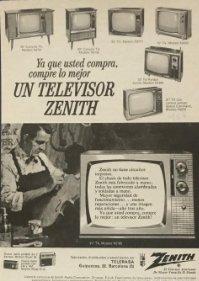 Publicidad televisor Zenith 18,2x25 cm