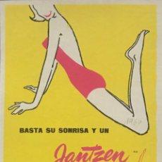 Catálogos publicitarios: ANUNCIO ANTIGUO BAÑADORES JANTZEN. PUBLICIDAD DE TRAJES DE BAÑO ORIGINAL. RECORTE DE REVISTA DE 1960. Lote 159308286