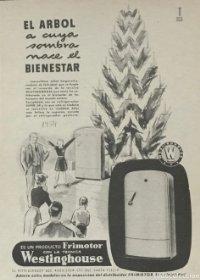 1954 Publicidad frigomotor Westinghouse 18,2x25 cm