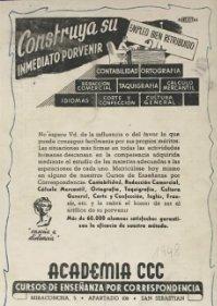 1948 Publicidad Academia CCC 18,2x25 cm