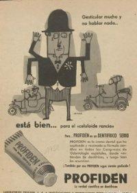 1958 Publicidad crema dental cientifica Profiden