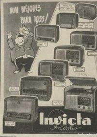 1954 Publicidad radio Invicta 18,2x25 cm