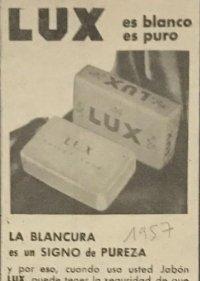 1957 Publicidad jabón Lux 18,2x25 cm