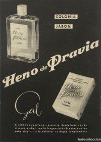 Publicidad colonia, jabón Heno de Pravia, Gal 18,2x25 cm