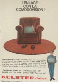 1966 Publicidad comodovisión Kolster 18,2x25 cm