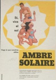 1961 Publicidad crema solar Ambre Solaire