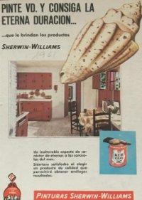 1961 Publicidad pinturas Sherwin-Williams 18,2x25 cm