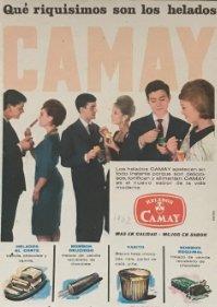 1962 Publicidad helados Camay 18,2x25 cm