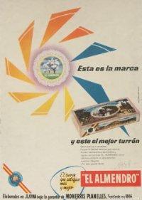 1958 Publicidad turrón El Almendro 18,2x25 cm