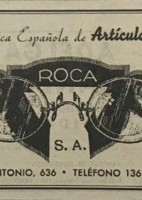1941 Publicidad articulos de óptica Roca 18,2x25 cm