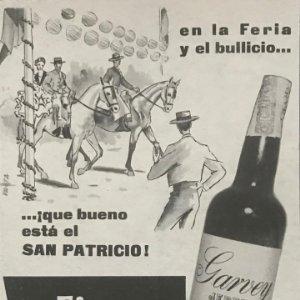 1962 Publicidad Fino San Patricio Garvey 18,2x25 cm
