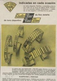 1965 Publicidad relojes Elasto Fixo 18,2x25 cm