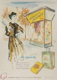 1957 Publicidad jabón y colonia Heno de Pravia 18,2x25 cm