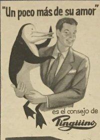 1957 Publicidad lavadora Pingüino 18,2x25 cm