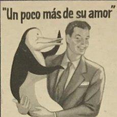 Catálogos publicitarios: 1957 PUBLICIDAD LAVADORA PINGÜINO 18,2X25 CM. Lote 159310282