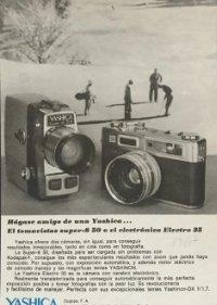 1967 Publicidad cámaras Yashica 18,2x25 cm
