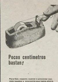 1961 Publicidad cinta adhesiva Fixo 18,2x25 cm
