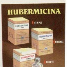 Catálogos publicitarios: PUBLICIDAD FARMACEUTICA: HUBERMICINA, POTENCIAL ANTIBIOTICO E INMUNITARIO. Lote 39838862