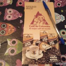 Catalogues publicitaires: ANTIGUO ANUNCIO PUBLICIDAD PAPEL TIPO CARTON CAFE DE COLOMBIA CAFE CREM ESPECIAL COLECCIONISTAS. Lote 159881110