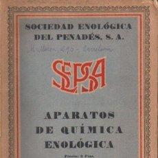 Catálogos publicitarios: SEPSA - APARATOS DE QUÍMICA ENOLÓGICA - VILAFRANCA DEL PENEDÉS.- CATÁLOGO ILUSTRADO. Lote 160615194