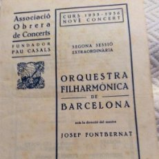 Catálogos publicitarios - Associacio Obrera de Concerts 1935_36 Pau Casals - 160625206