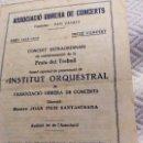 Catálogos publicitarios: ASSOCIACIO OBRERA DE CONCERTS 1933_34. Lote 160625326