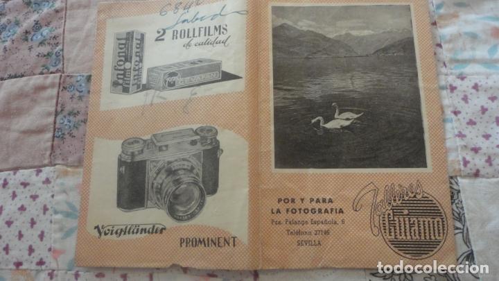 ANTIGUO PORTANEGATIVOS.PUBLICIDAD.TALLERES GUIAMO.SEVILLA.INFONAL.GEVAPAN.VOIGTLANDER (Coleccionismo - Catálogos Publicitarios)