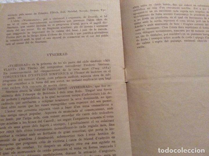 Catálogos publicitarios: Orquestra d' estudios sinfónics x Concerts Eduard Toldra 1934 - Foto 2 - 160625502