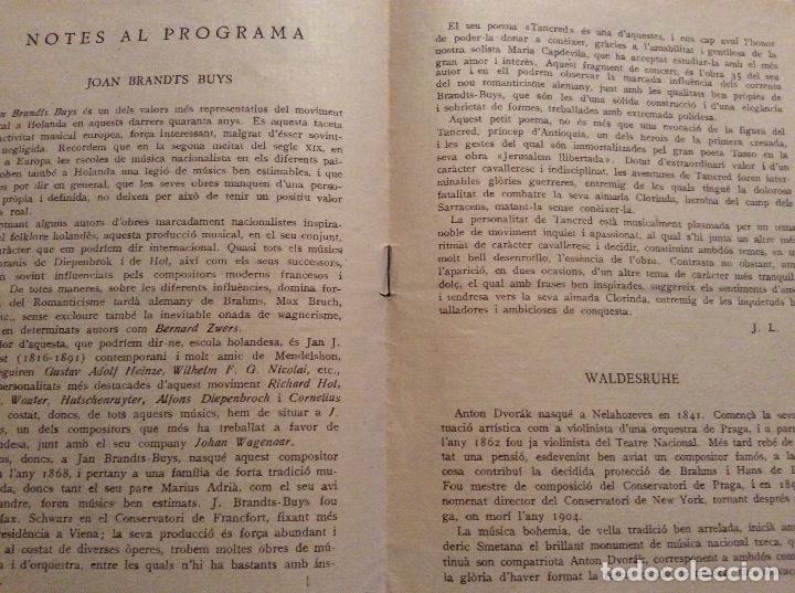 Catálogos publicitarios: Orquestra d' estudios sinfónics x Concerts Eduard Toldra 1934 - Foto 3 - 160625502