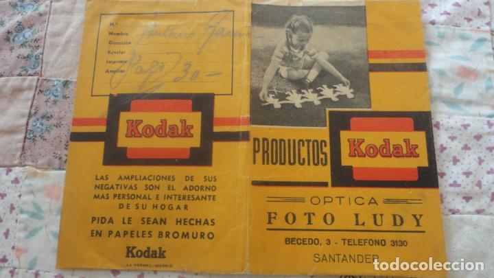ANTIGUO PORTANEGATIVOS.KODAK.OPTICA.FOTO LUDY.SANTANDER (Coleccionismo - Catálogos Publicitarios)