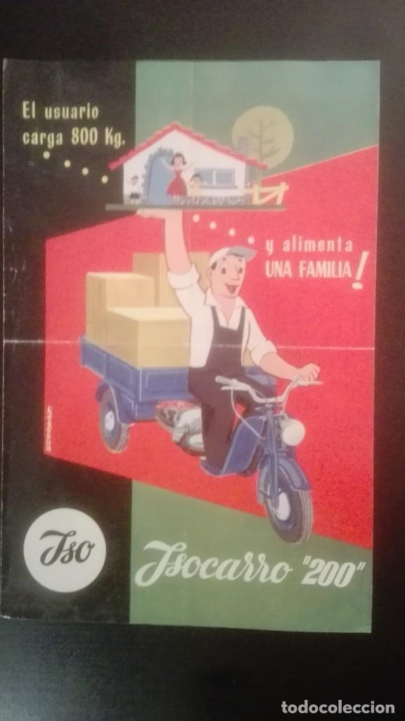 CATÁLOGO PUBLICITARIO AÑO 1959 ISOCARRO 200 (MOTOCARRO), CON SELLO CONCESIONARIO CASA PACHECO JEREZ (Coleccionismo - Catálogos Publicitarios)