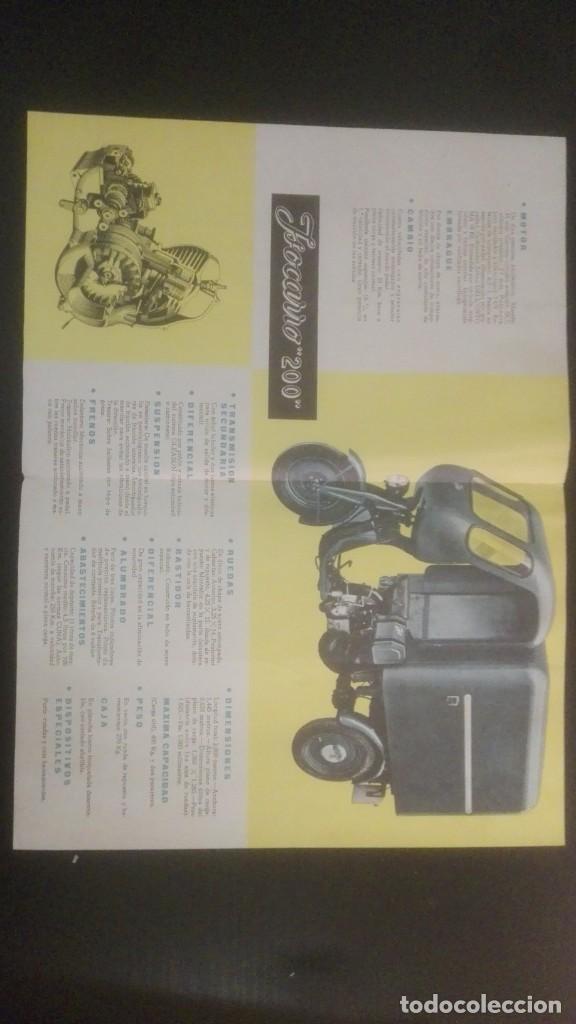Catálogos publicitarios: CATÁLOGO PUBLICITARIO AÑO 1959 ISOCARRO 200 (MOTOCARRO), CON SELLO CONCESIONARIO CASA PACHECO JEREZ - Foto 2 - 160645286