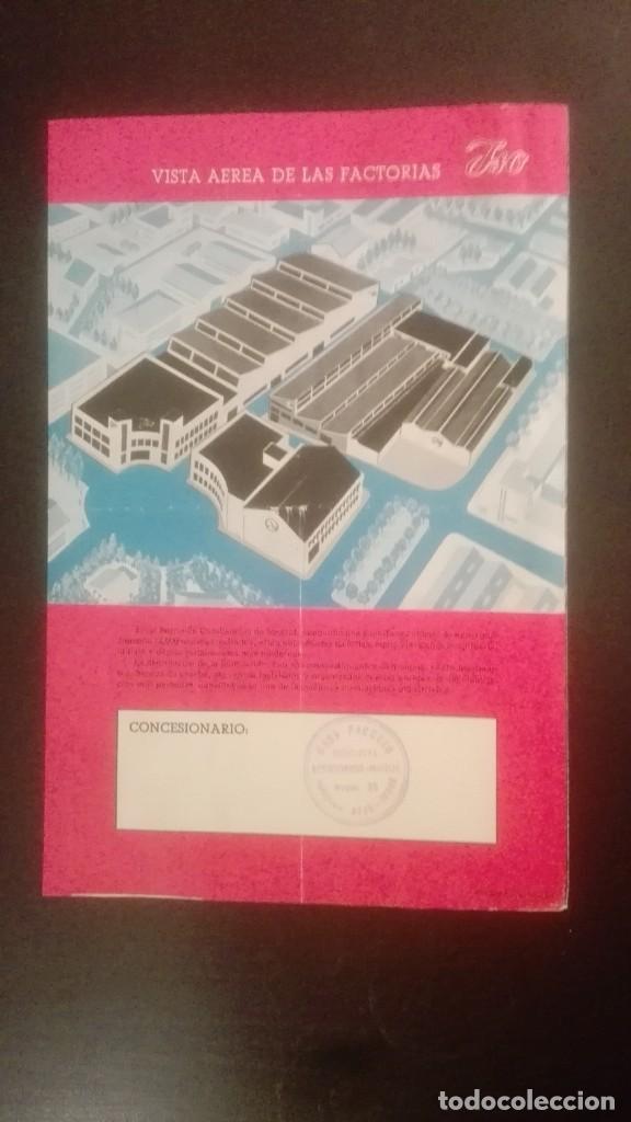 Catálogos publicitarios: CATÁLOGO PUBLICITARIO AÑO 1959 ISOCARRO 200 (MOTOCARRO), CON SELLO CONCESIONARIO CASA PACHECO JEREZ - Foto 3 - 160645286