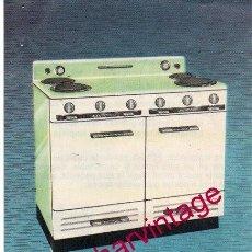 Catálogos publicitarios: COCINAS ELÉCTRICAS EDESA. PUBLICIDAD ORIGINAL. AÑOS 50/60.. Lote 161159882