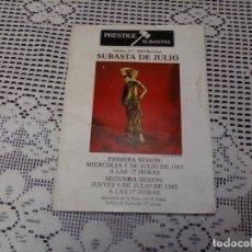 Catálogos publicitarios: CATÁLOGO SUBASTA PRESTIGE .BARCELONA 1987. Lote 161272222