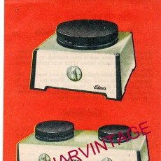 Catálogos publicitarios: HORNILLOS ELECTRICOS EDESA. PUBLICIDAD ORIGINAL. AÑOS 50/60.. Lote 161283270