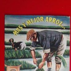 Catálogos publicitarios: CATALOGO ABONOS CIANAMIDA DE CALCIO, MAS Y MEJOR ARROZ, HIDRO-NITRO ESPAÑOLA. Lote 161285890