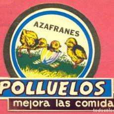 Catálogos publicitarios: AZAFRANES POLLUELOS.NOVELDA (ALICANTE) DIPTICO FELICITACION NAVIDAD, VER FOTOS. Lote 161897626