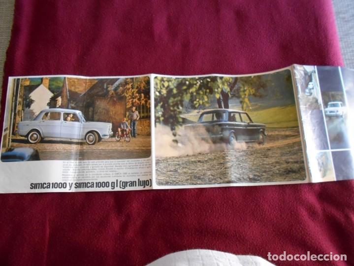 Catálogos publicitarios: catalogo de simca 1000 año 1965 - Foto 2 - 162226666