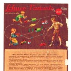 Catálogos publicitarios: CATÁLOGO DÍPTICO SCHUCO VARIANTO 3010 JUEGO DE AUTO TRÁFICO. EN CASTELLANO AÑOS 50. Lote 162368870