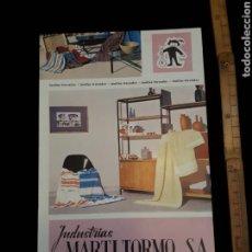 Catálogos publicitarios: ANTIGUA PUBLICIDAD INDUSTRIAS MARTÍ TORMO SA VALENCIA. Lote 162514434