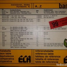 Catálogos publicitarios: TABLA COMPARA BAND 1 EQUIVALENCIA DIODO TRANSISTOR TIRISTOR CIRCUITO INTEGRADO MONTAJE ELECTRÓNICA. Lote 180253237
