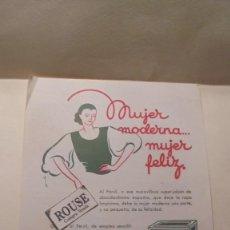 Catálogos publicitarios: FOLLETO 1 HOJA PERSIL HENKEL - MUJER MODERNA .... MUJER FELIZ 22X15,5 CM. . Lote 164729654